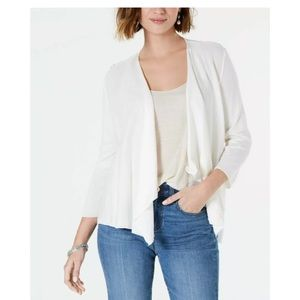 New Style & Co white lace back cardigan sweater